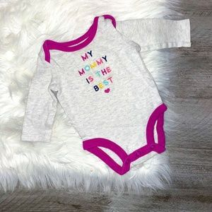 """Carter's Long Sleeve""""My Mommy Is The Best"""" Onesie"""